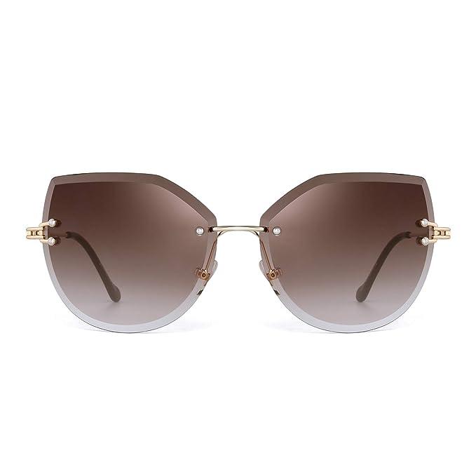 Amazon.com: JM Gafas de sol sin borde de gran tamaño para ...