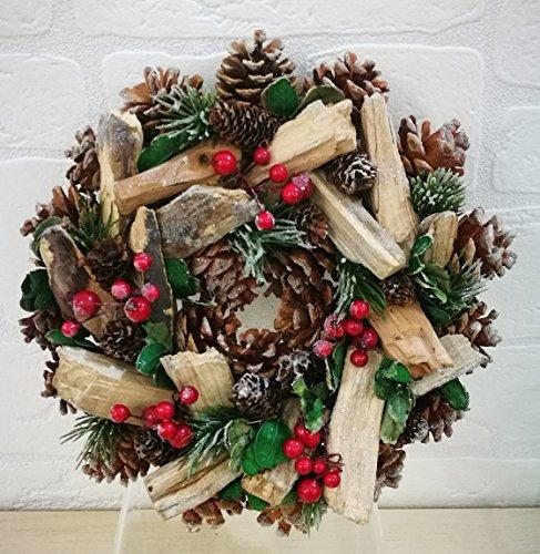 Subito disponibile Fuoriporta natale natalizio con pigne da 26 cm ghirlanda corona