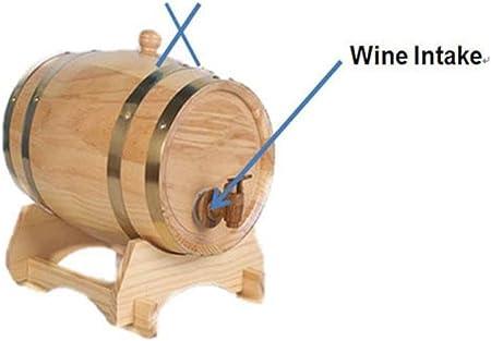 Barril de madera de roble de 5 litros Dream Wood para almacenamiento y envejecimiento de vino y bebidas, con soporte
