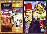 Willy Wonka & the Chocolate Factory Original + Annie + Royal Adventure Fantasy Musical double Triple Feature Movie set