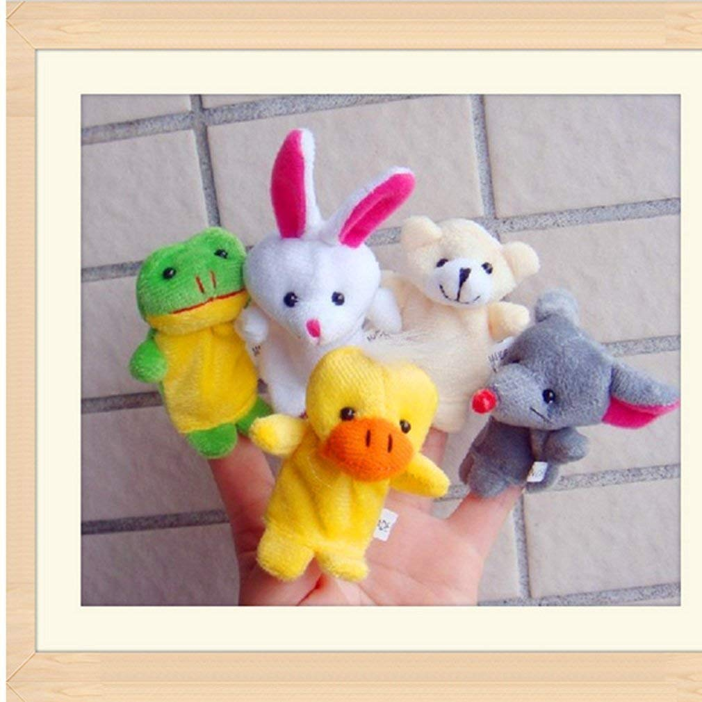 Shows Playtime Schools 6PCS zswell Finger Puppets Set Cute Animal Style Soft Plush Animal Baby Story Time Finger Puppets for Children