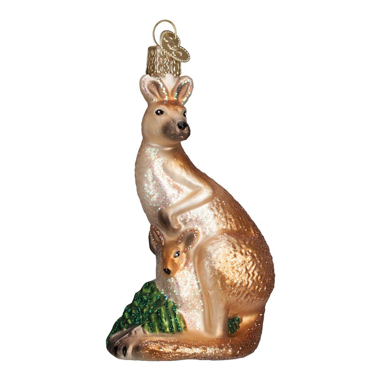 Old World Christmas Kangaroo Glass Blown Ornament