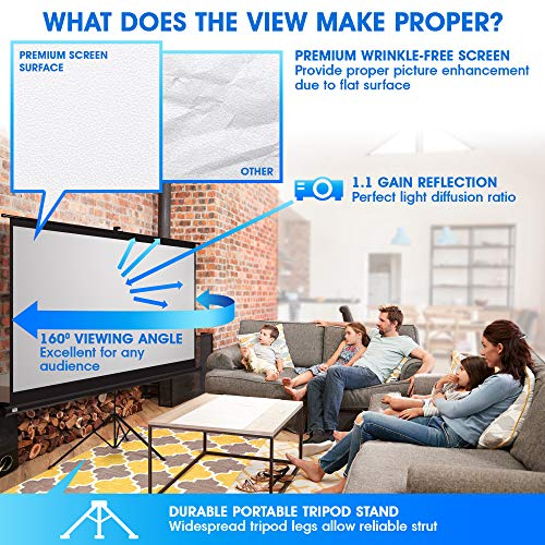 Buy large projector screen tripod