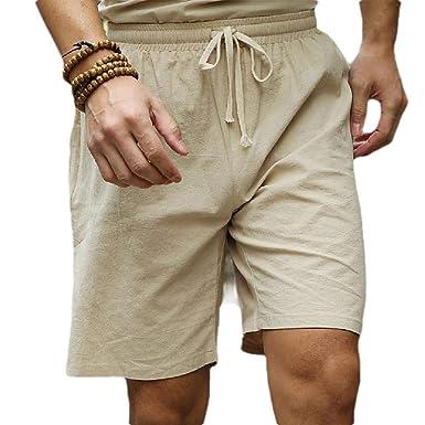 Vska Mens Plus Tamaño Ropa Baggy Shorts Casual Shorts De