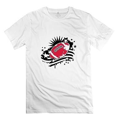Amazon.com  MKSD Funny Football American Flag Design T-shirt For Men ... 025f505e5