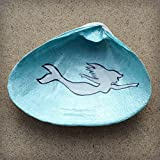 Swimming-Mermaid-Clam-Shell-Dish-Spoon-Rest-Soap-Dish-Jewelry-Holder-Catch-all-Cranberry-Collective