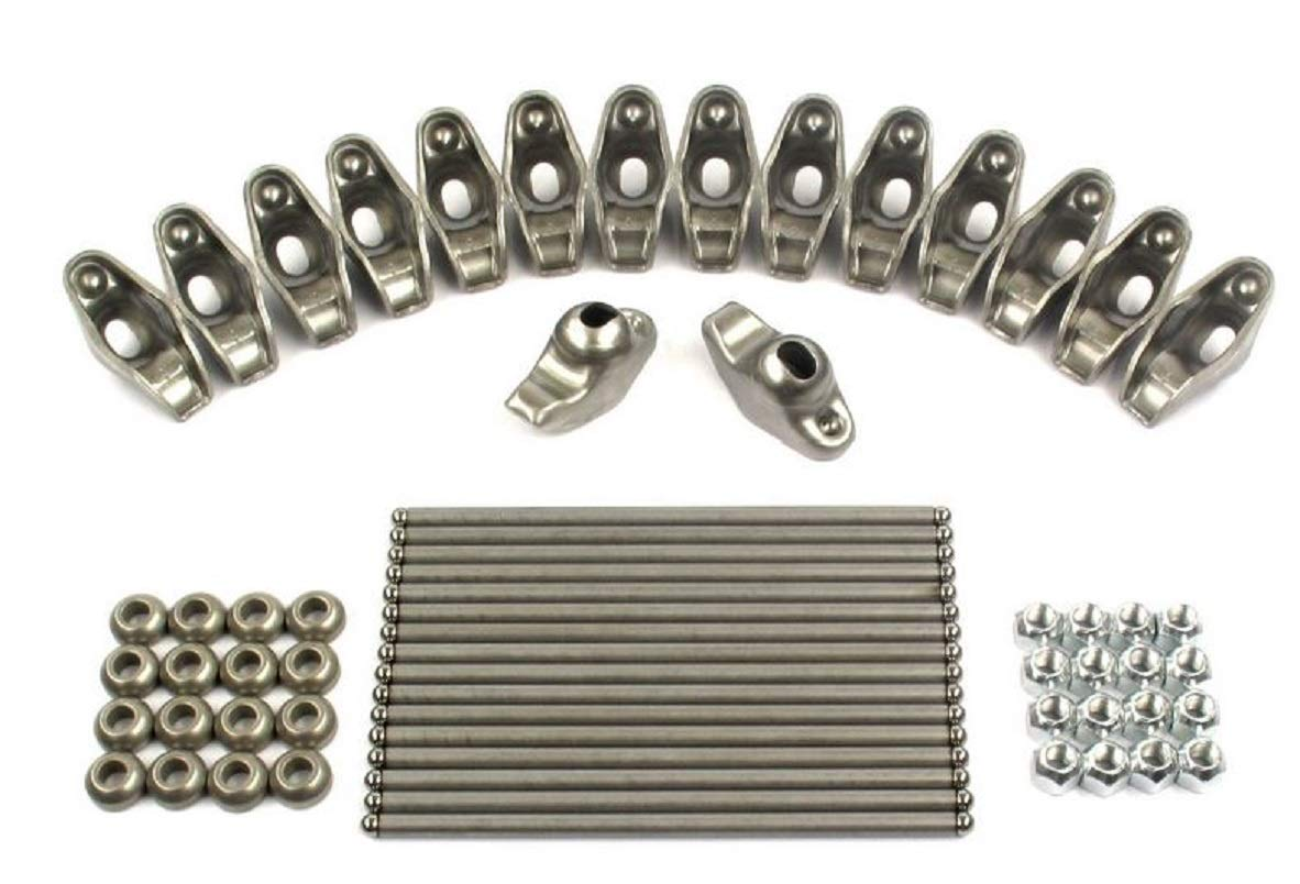New Rocker Rockers Arms, Nuts, Balls & Push Rods Set compatible with 1955-1991 Chevy sb 400 350 327 307 305 302 283 267 265 262 Elgin Industries