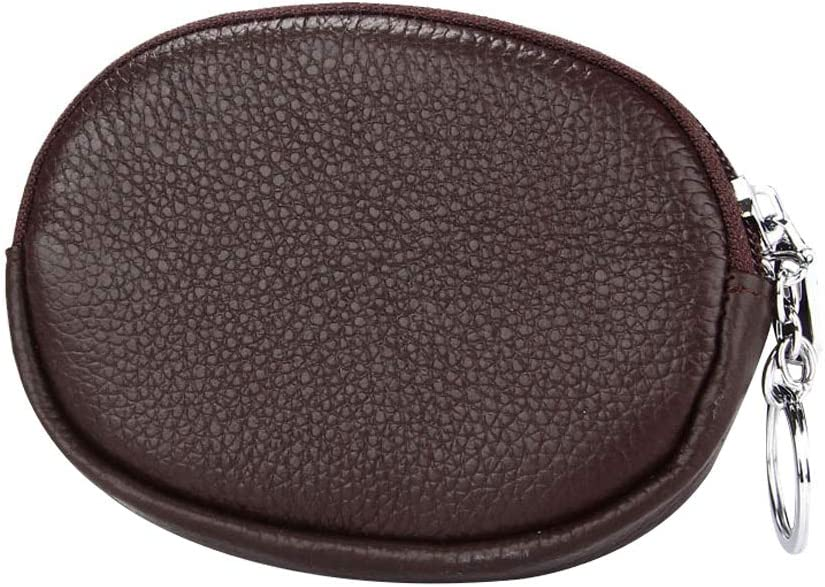 Vi.yo Woman Wallet Purse Round Forme Wax Wallet Portefeuille de Grande capacit/é pour Les Filles avec Fermeture /à glissi/ère en Cuir Style 1