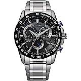 Citizen Men's PCAT Eco-Drive Chronograph Watch in Super Titanium, Silver, CB5908-57E