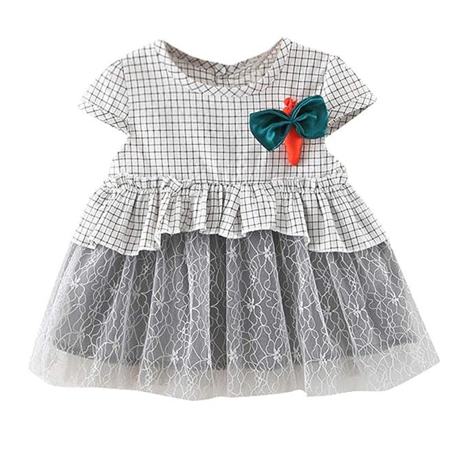 Modaworld Vestidos niña Recién Nacido, Vestidos de Princesa Fiesta ...