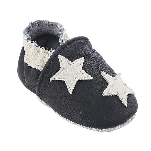 Zapatos de bebé de Cuero Suave con Mocasines Suelas de Gamuza para bebés Niños pequeños Niños