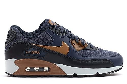 the best attitude 78ffa 24b61 Nike Men s Air MAX 90 Premium, Thunder Blue ALE Brown, ...