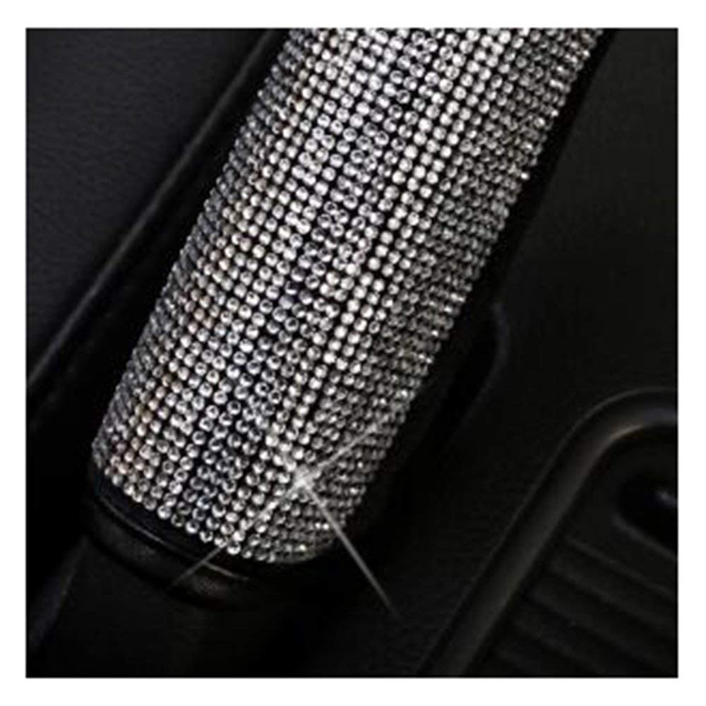 Handbrake Cover MLOVESIE Leather Steering Wheel Cover with Crystal Bling Bling Rhinestones for Girls,Lady Universal Fit 38cm