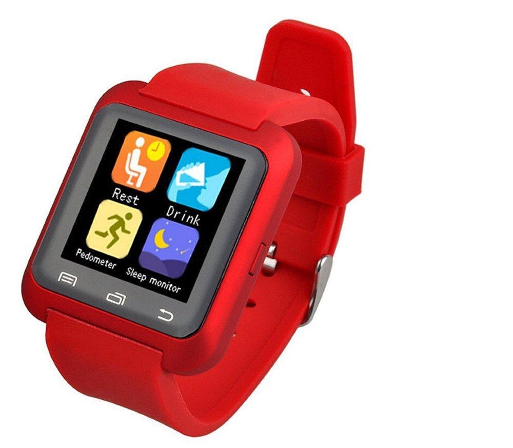 maxfond U80 Bluetooth 4.0 Reloj Inteligente Muñequera Deportes reloj teléfono reloj podómetro para Smartphones IOS Apple iPhone 5/5 C/5S/6/6 Puls Android ...