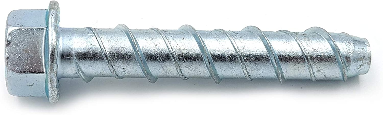 Brick or Block CONFAST LDC123 1//2 x 3 Zinc Plated Large Diameter Concrete Screw for Anchoring to Masonry 25 per Box