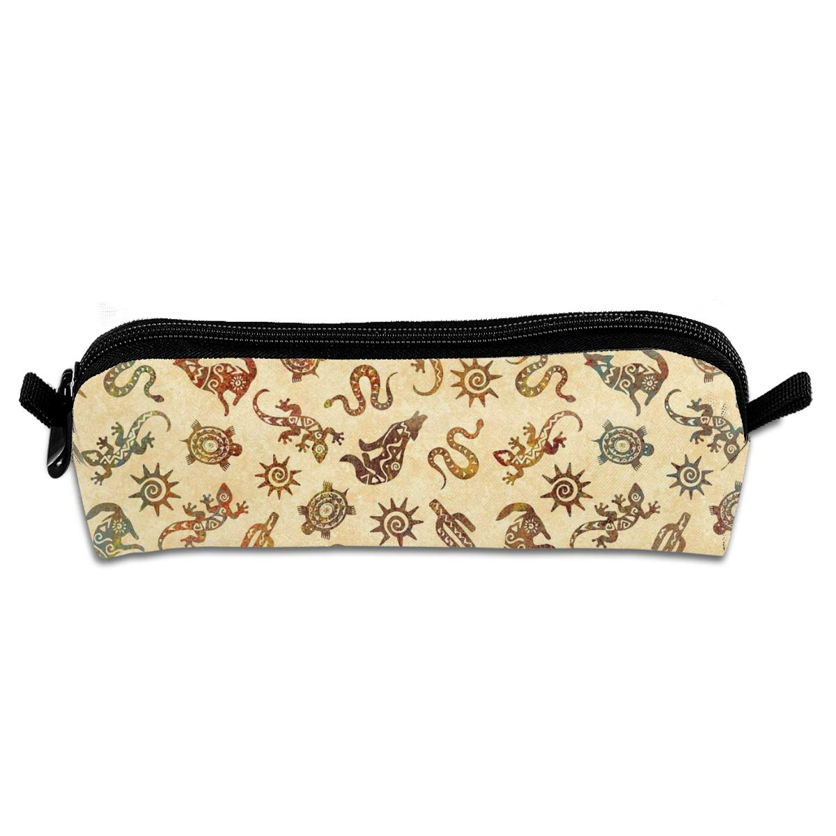KutLong Southwest Tribe Animal Icon Student Pencil Pen Case Zipper Pouch Small Cosmetic Makeup Bag Coin Purse?for Kids Teens and Other School Supplies