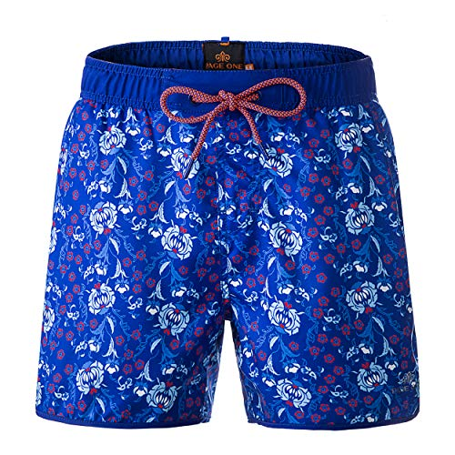 PAGE ONE Mens Women Swim Trunks Quick Dry Beach Wear Drawstring Board Shorts Solid Swim Suit