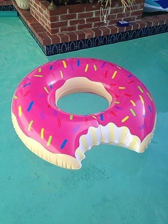 MENGCORE® - Gigantesco flotador en forma de rosquilla para piscina, juguetes flotadores para piscinas, para adultos, flotador de anillo en forma de ...