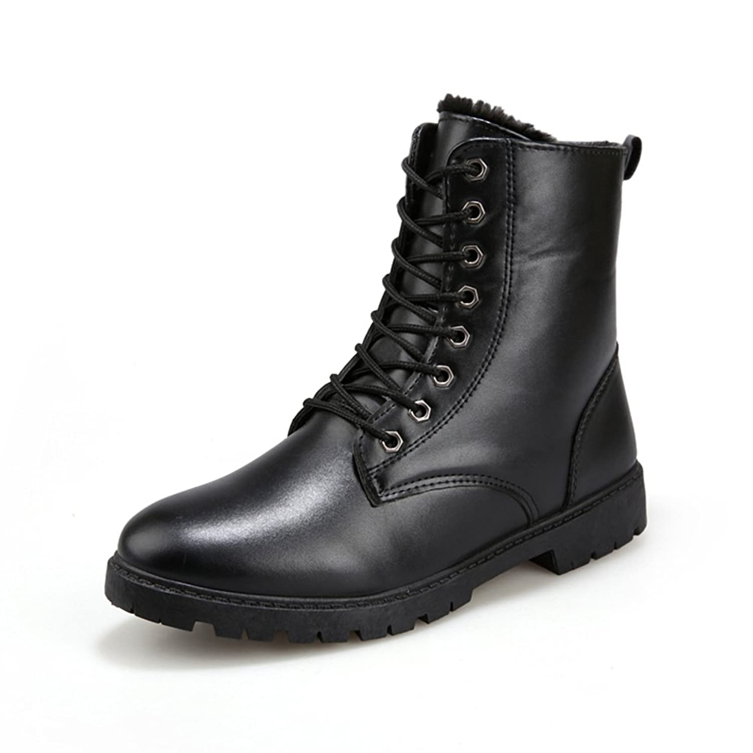 Man Martin in autumn and winter boots/ round head high help shoes of England/ high fashion men's boot/ added cotton boots/ male tube tide in boots