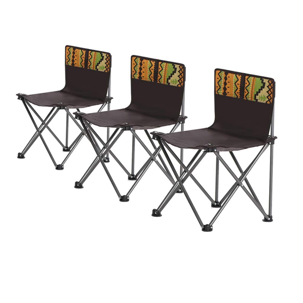 XBZDY Outdoor-Klappstuhl-Set, Tragbarer Strandstuhl, Sketch Chair, Angelstuhl, Park, Campingstuhl, Rückenlehnenstuhl