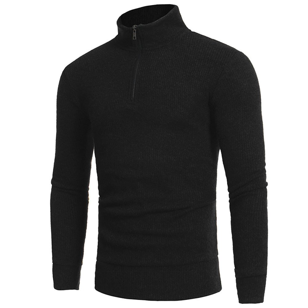 kemilove Men's Basic Turtleneck Pullover Solid Sweater