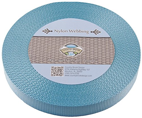 Country Brook Design 5/8 Inch Ocean Blue Heavy Nylon Webbing, 10 Yards (Leash 8 Plain)