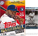 #5: 2016 Topps UPDATE MLB Baseball HUGE Factory Sealed Hanger Box with 72 Cards including EXCLUSIVE 500 Futures GOLD PARALLEL Cards PLUS Bonus BABE RUTH Collection Foil Pack! Look for Autographs & Relics!