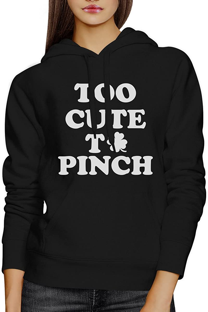 Too Cute to Pinch Black Unisex Hoodie Cute Graphic for Her