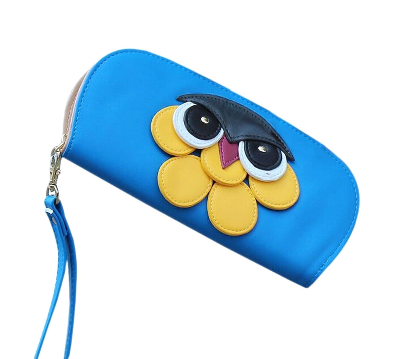 東座標の女性のかわいいナイトフクロウ丸いhand-carrying財布  ブルー B013W7GSQW