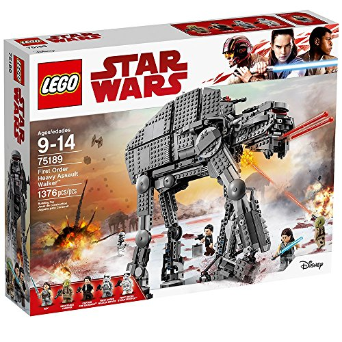LEGO Star Wars Episode VIII First Order Heavy Assault Walker 75189 Building Kit (1376 -