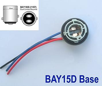 2x Lampenfassung Bay15d Sockel 1157 Lampe Birne Stecker Fassung 12v Amazon De Auto