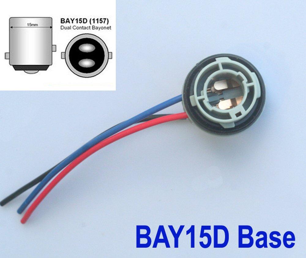 2x LAMPENFASSUNG - Bay15d Sockel 1157 - Lampe Birne Stecker Fassung 12V ShuoHui