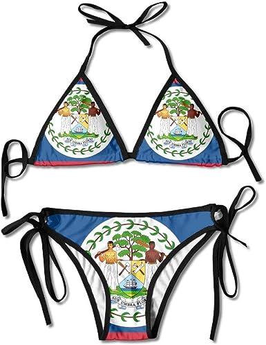 SSLife Womens Two Pieces Bikini Set Swimsuit Bathing Suits Padded Top Side Bottom Tie Swimwear