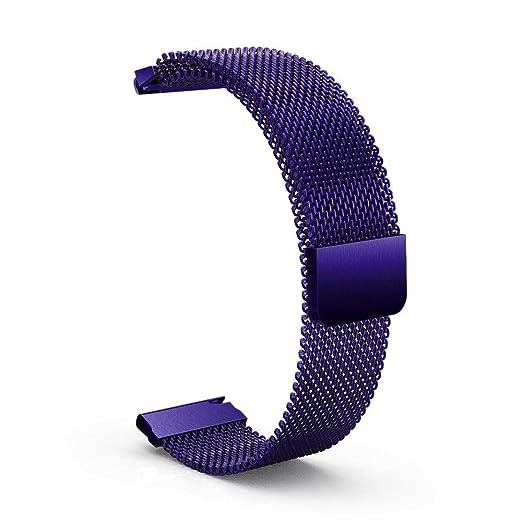 Bandas magnético para Mujer y Hombre de Acero Inoxidable Brazalete Inteligente Pulsera de Repuesto Relojes Elegante Correa de Recambio Cadena: Amazon.es: ...