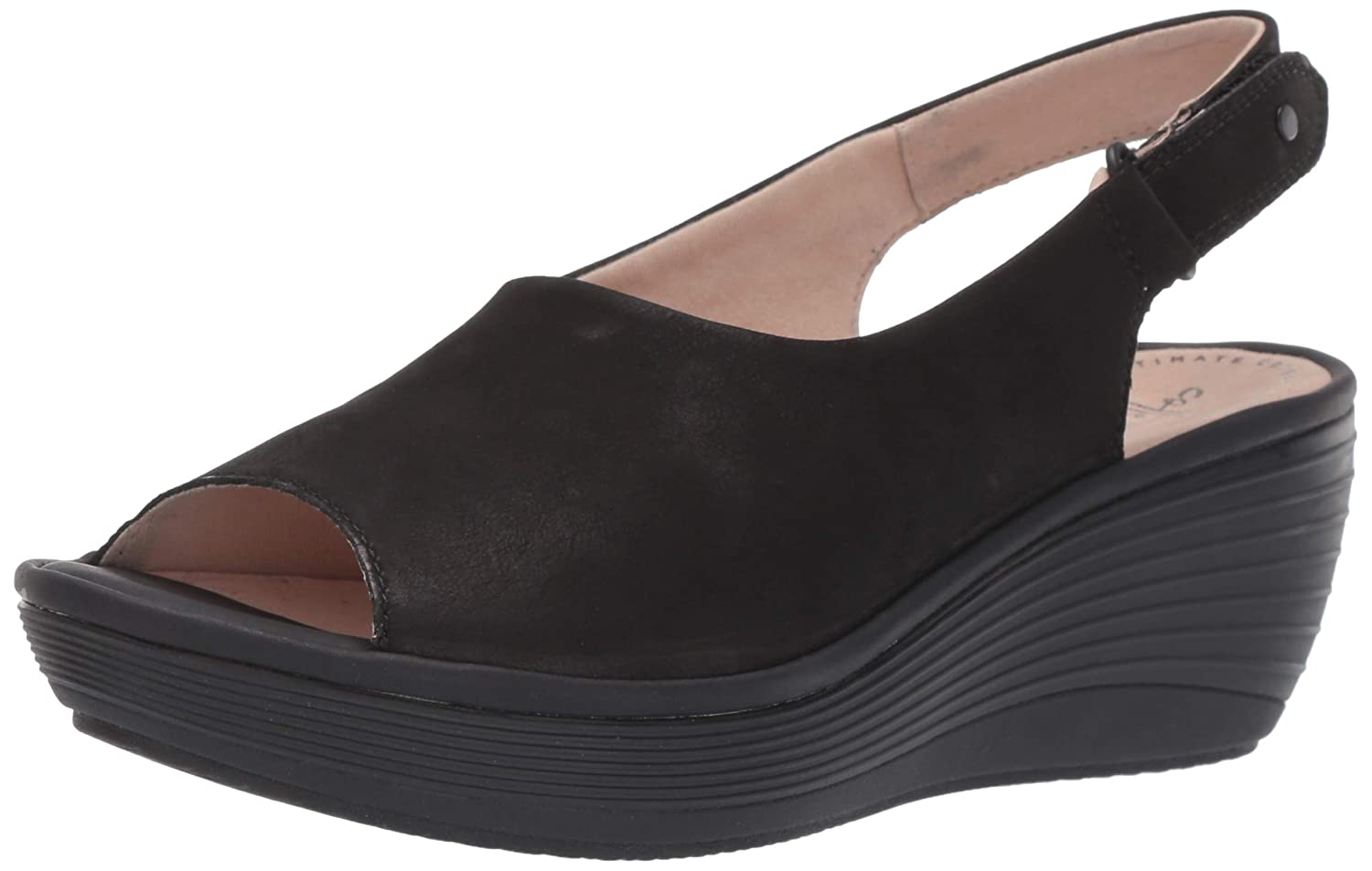4653221d68a Amazon.com  CLARKS Women s Reedly Shaina Wedge Sandal  Shoes
