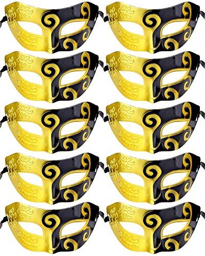 10pcs Set Mardi Gras Half Masquerades Venetian Masks Costumes Party Accessory -