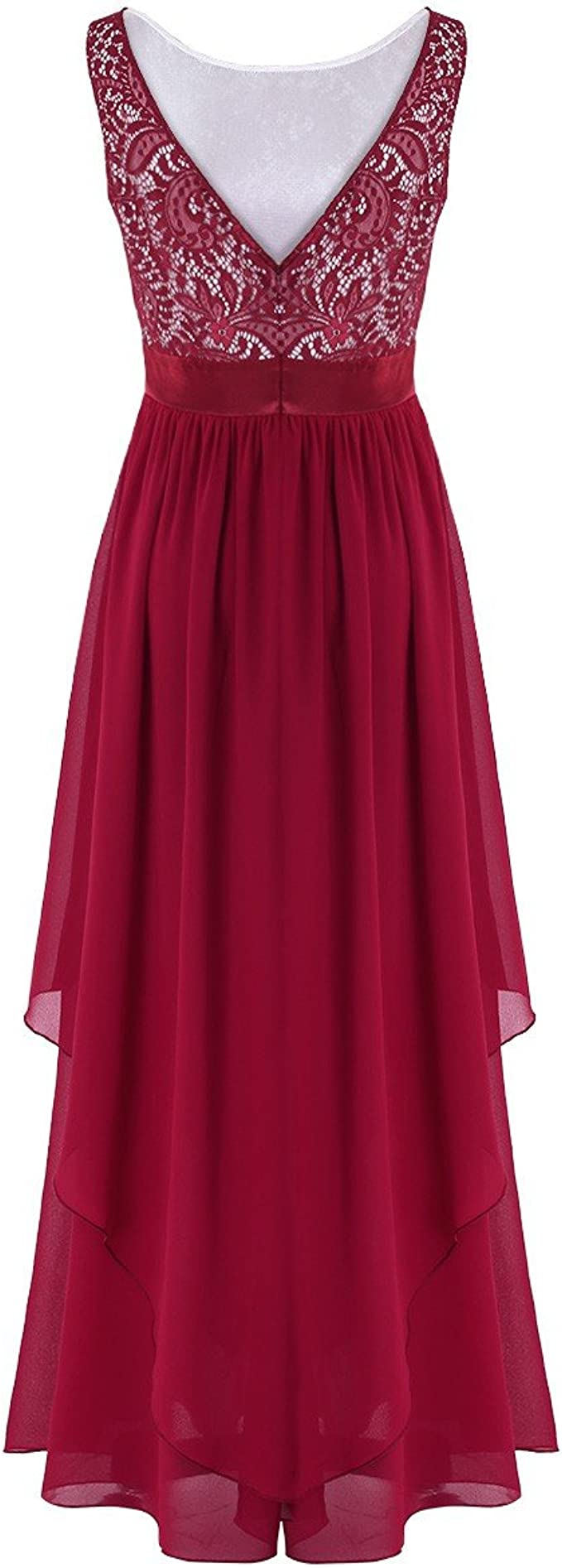 TiaoBug Elegante Damen Kleider Festliche Cocktail Hochzeit Abendkleid Lange  Kleider 18/18 18 18 18/18 18 18