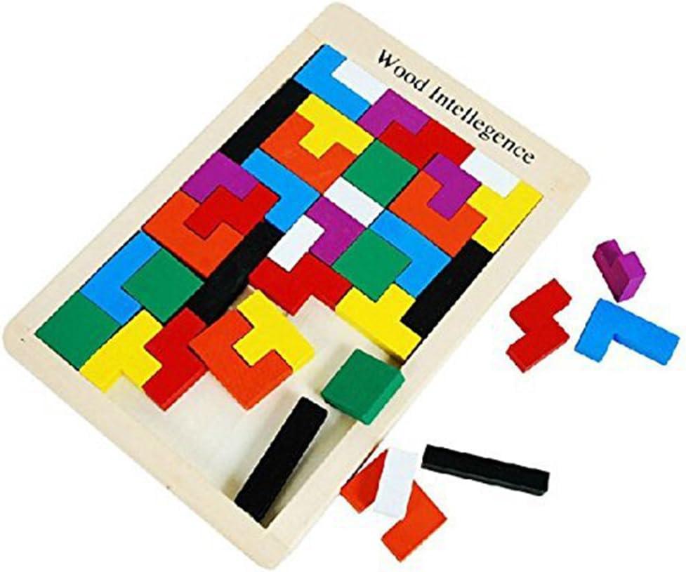 mogist Madera Puzzle Niños juguete para el Aprendizaje Madera Tetris Puzzle Inteligencia pädagi gisches juguete lógica Juego Juego de mesa.: Amazon.es: Hogar