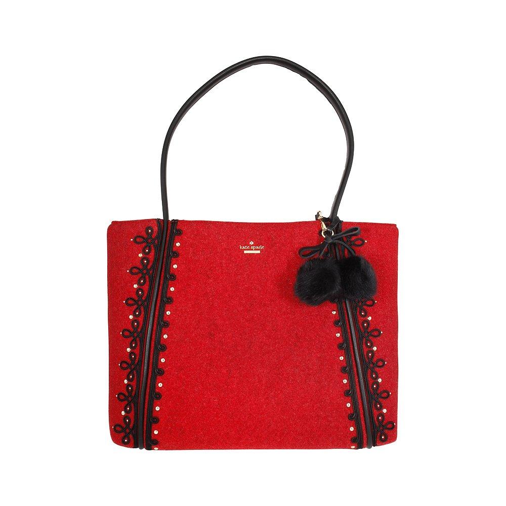 Kate Spade Byrne Street Ronan Ladies Medium Leather & Wool Tote Handbag PXRU7963 B07CC7Y8TM