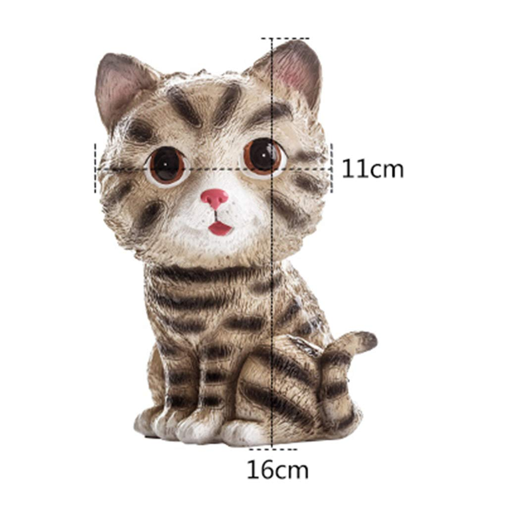 Jinxin-Home Décor Glasses Storage-Resin Kittens Glasses Shelf Decoration Living Room Creative Cute Small Decoration Ornaments Bedroom Bedside Office Gifts 16 11 (Color : A)