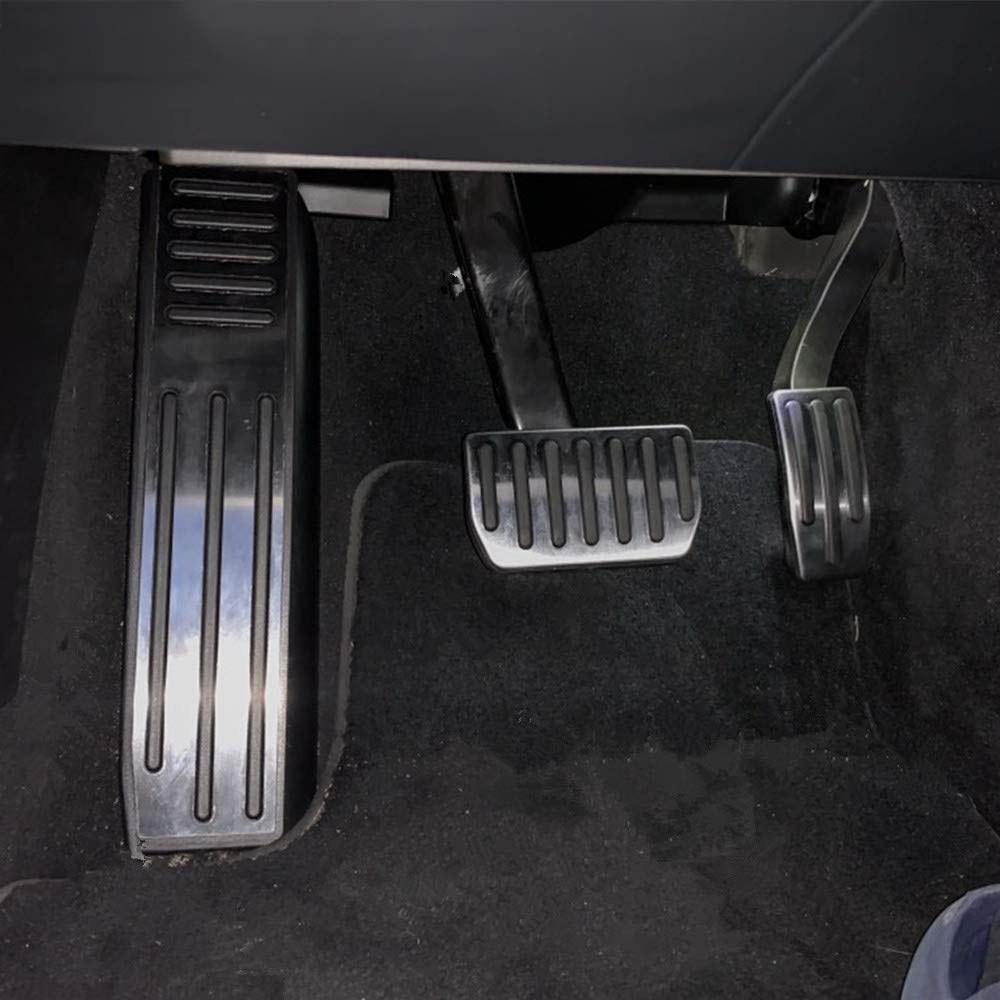 LUVCARPB Cubierta de Pedales de autom/óvil Apta para Tesla Model S Model X 2016-2019