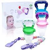 Edealing Baby Food Feeder/Fruit Pacifier BPA Free & 100% Silicone Nipple Fresh Food Milk Nibbler Feeder Feeding Tool Safe Bab