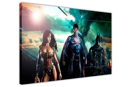 Justice League Super Hero Batman Superman Wonder Woman Wall Art Poster Print