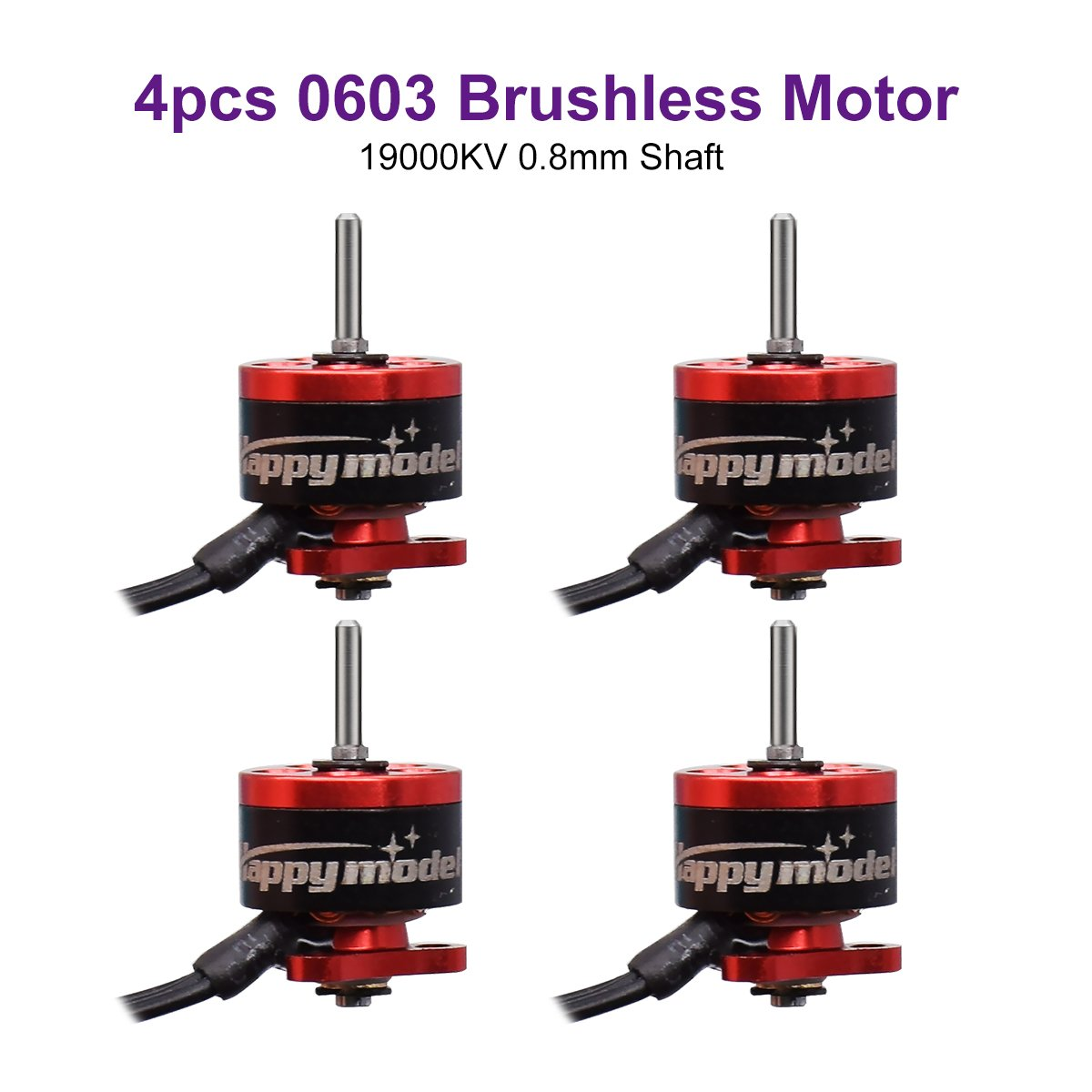 0603ブラシレスモーター4pcs 19000 KVブラシレスモーターfor beta65 Pro Tiny 65 GTマイクロブラシレスWhoop FPV Racing Drone 00313192 B07CTLXSF6 0.8mm Shaft motor 0.8mm Shaft motor