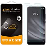 (2 Pack) Supershieldz for Xiaomi Mi 8 Lite Tempered Glass Screen Protector, Anti Scratch, Bubble Free