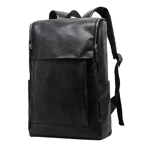 5dd4d171aa UKXMNC Men Backpack PU Leather Luxury Shoulder Bags 17 Inch Laptop School  Bag Casual Business Backpacks