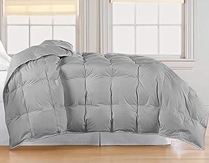Blue Ridge Home Fashions, Inc. Microfiber White Goose Twin in Silver Color DOWN/DOWN DOWN/DOWN BLEND COMFORTER,