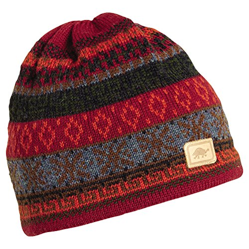(Turtle Fur Men's Hawkeye, Classic Wool Ski Hat, Cardinal)
