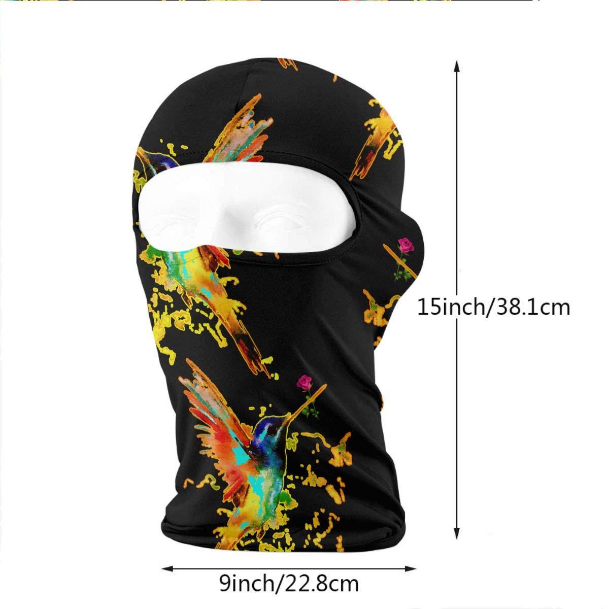 Palmerbury Flying Hummingbird Watercolor Balaclava Face Mask Hood for Neck Gaiter Headwear Helmet Liner