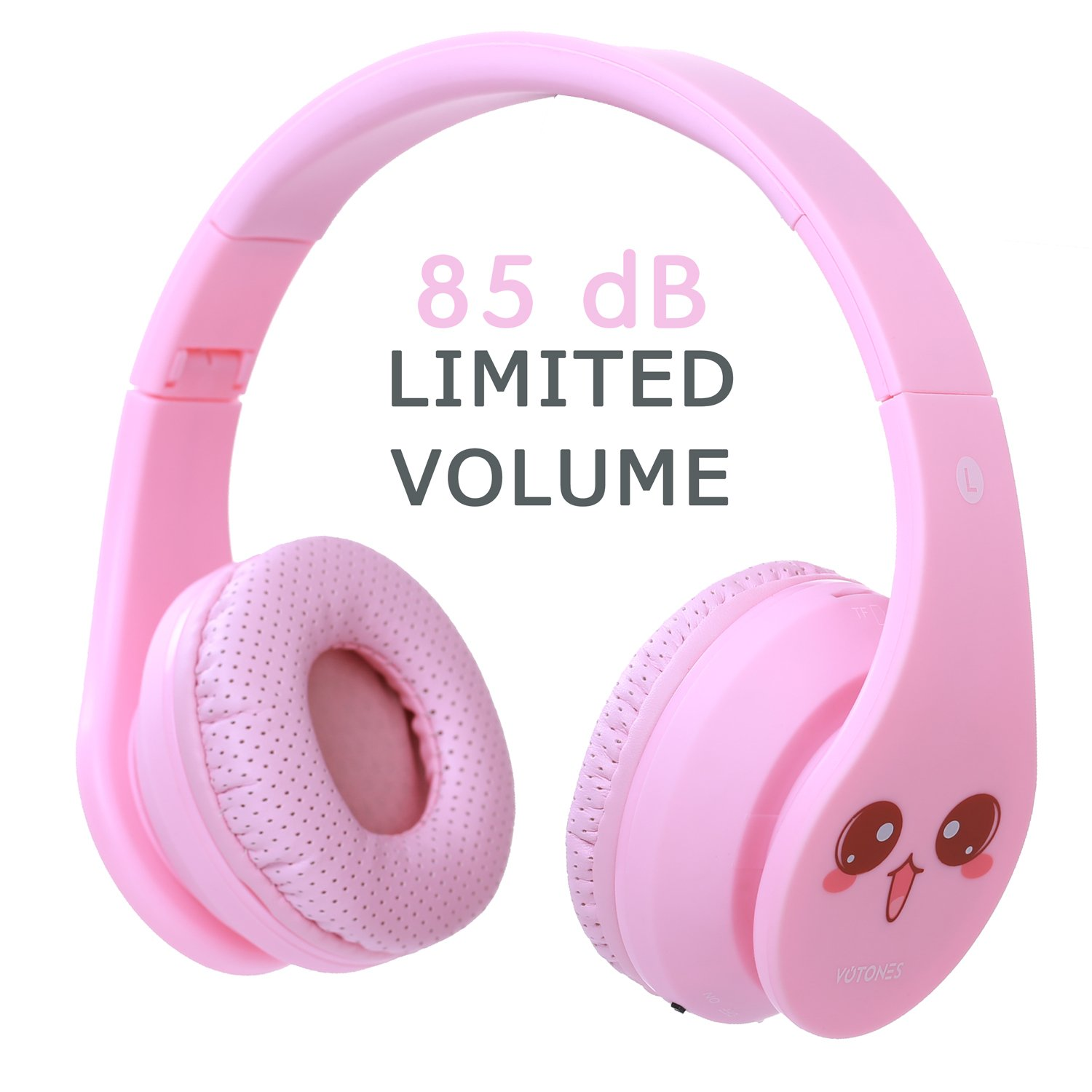 Kids Bluetooth Headphones, Wireless/Wired Foldable Adjustable Lightweight Headset with Mic, Noise Reduction Cancelling, for Phones Computer for Children/Boy/Girl/Teen/Family (Pink1)